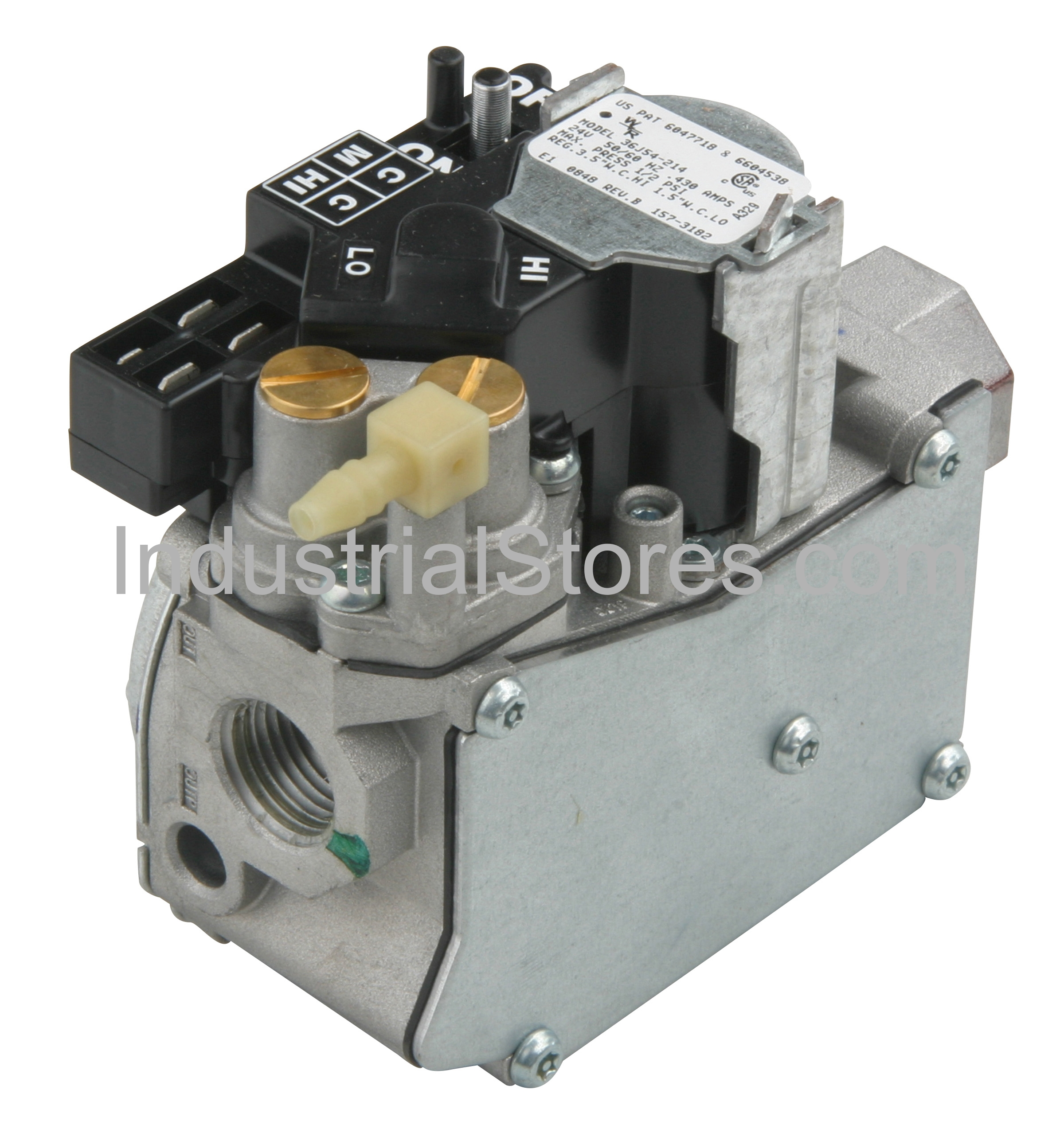 """White-Rodgers 36J54-214 Gas Valve Fast Opening 2-Stage 24V for Natural Gas or Liquid Propane 1/2"""" NPT"""
