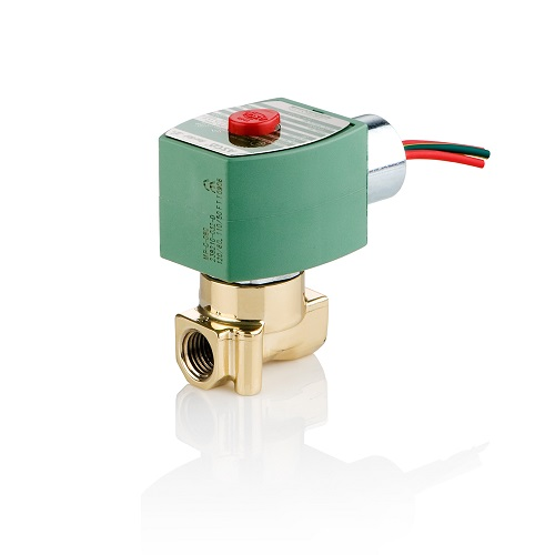 "Asco 8262H210V-240V Solenoid Valve 1/4"" 240V Normally Closed 0-60 PSI Air 0-75 PSI Water Light Oil"