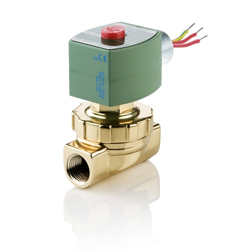"""Asco 8220G405-24V Hot Water and Steam 2-Way Solenoid Valve 1/2"""" Normally Closed 0-50 PSI 24V"""