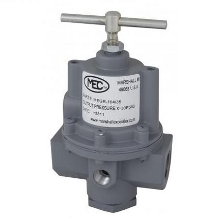 """Marshall Excelsior MEGR-164SR-21 High Pressure Regulator 1/2"""" X 1/2"""" 10PSI Outlet 0-15PSI"""