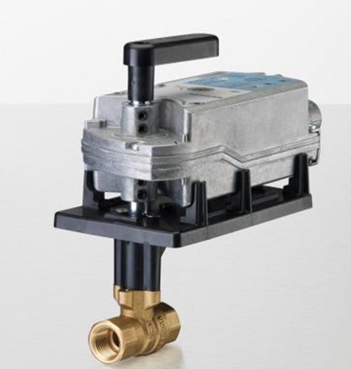 "Siemens Building Technology 171F-10321S Two-Way Ball Valve Assembly 1-1/4"" 100Cv 200 PSI Valve Body Normally Open with Spring Return Actuator"