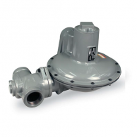 "Actaris B38R-2 Gas Regulator 2"" with 3/8"" Orifice Blue & White Spring"