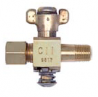 "Conbraco 56-112-01 PIlot Cock 1/8"" NPT x 1/4"" Tube Throttle Adjustable 1/2 PSIG 32-125F"